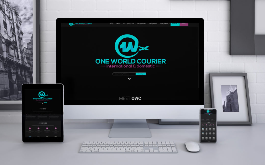 ONE WORLD COURIER LOGO, WEB DESIGN & DEVELOPMENT