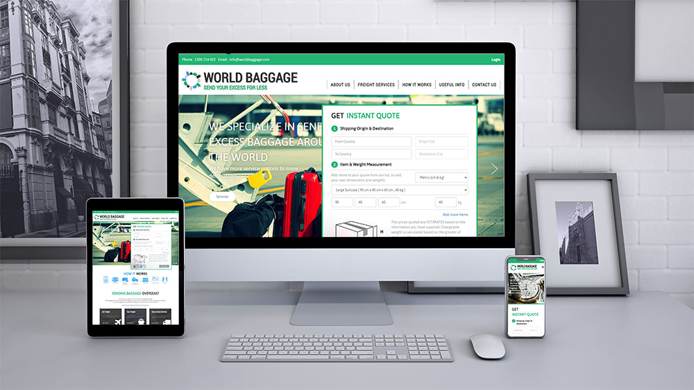 Web Design in the Philippines: We Manage IT for World Baggage
